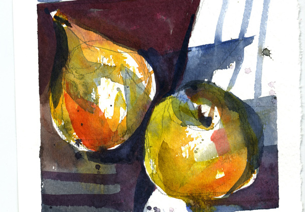 2017 Ken Richmond From Dark to Light with Watercolor still life