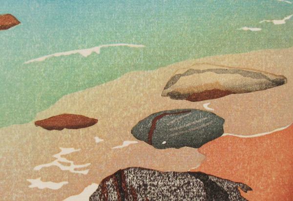2017 Mary Brodbeck watercolor printmaking japanese woodblock
