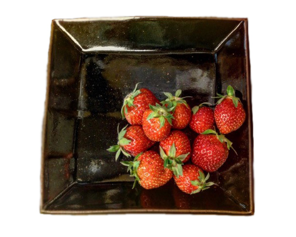 2017 john huston square dish strawberries