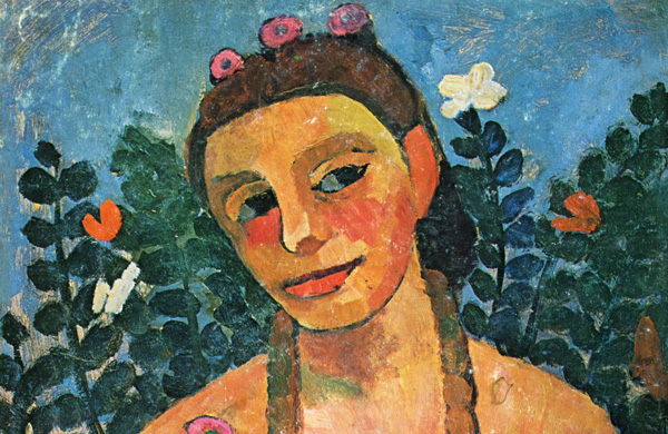 Photo information: Paula Modersohn-Becker, Self-Portrait, Nude with Amber Necklace Half-Length II, 1906
